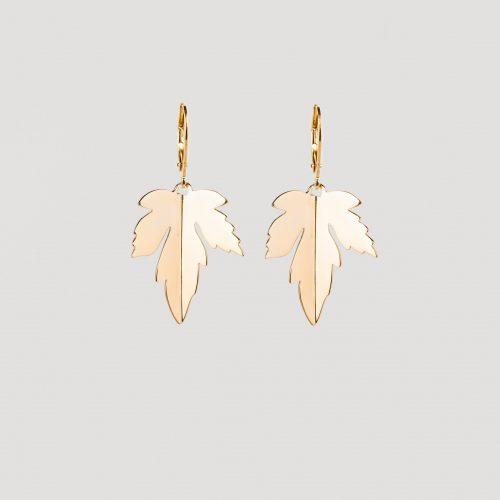 Dutch maple earrings gold
