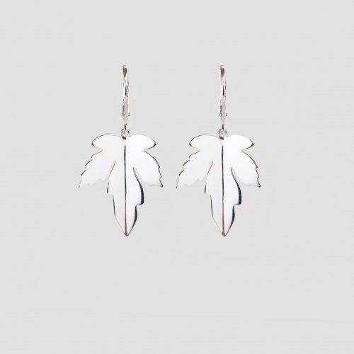 Dutch maple leaf earrings silver