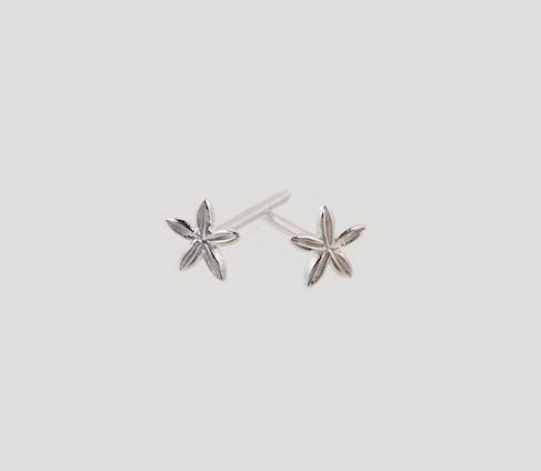 5 petal earrings silver