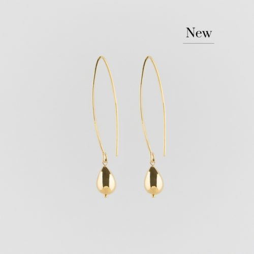image of golden raindrop earrings on loop new