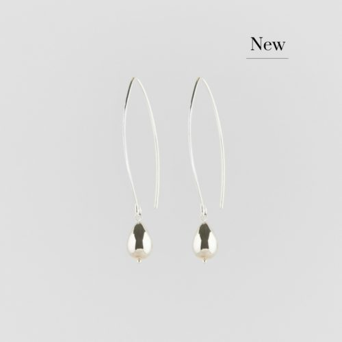 image of Silver Raindrop Earrings on Loop New