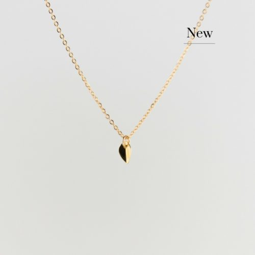 Product image of mini golden leaf necklace new