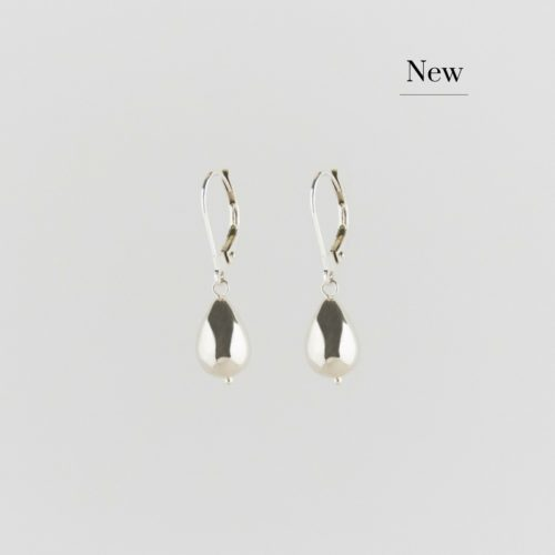 images of silver classic raindrop earrings new