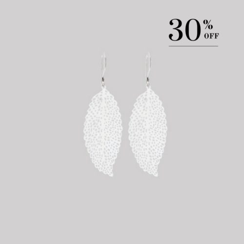 Dancing leaf earrings silver