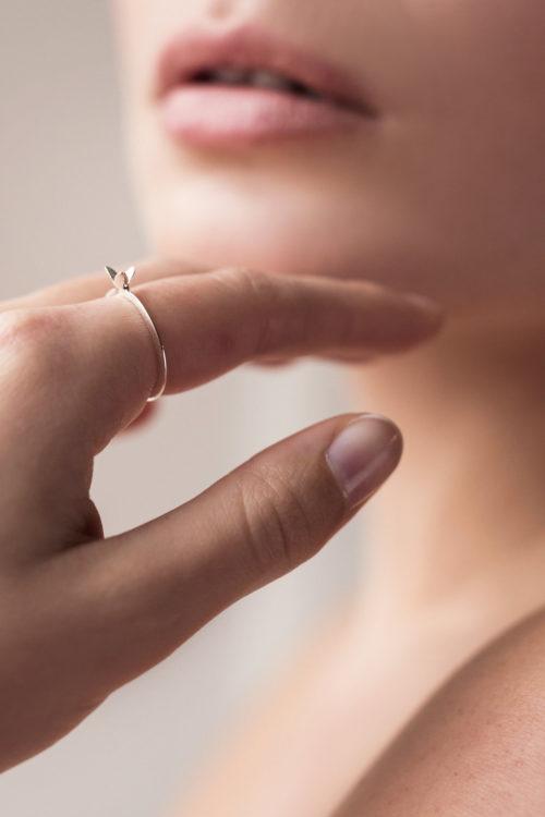 Julia Otilia Silver Lily Ring