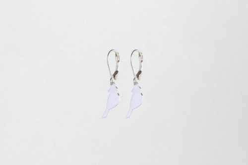 Cute bird earrings silver