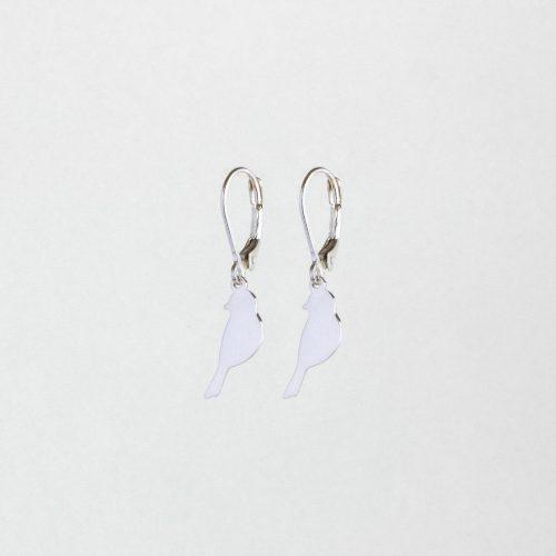 Cute bird earrings silver