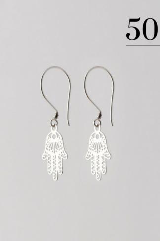 Hand of Fatima earrings silver
