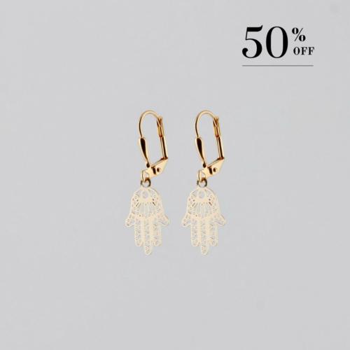 Golden Hand of Fatima earrings
