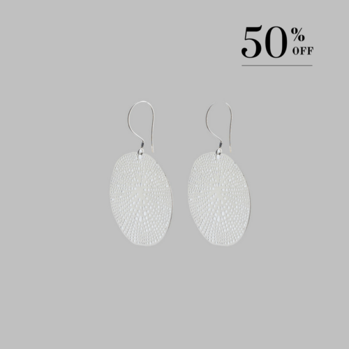 Spider web earrings silver