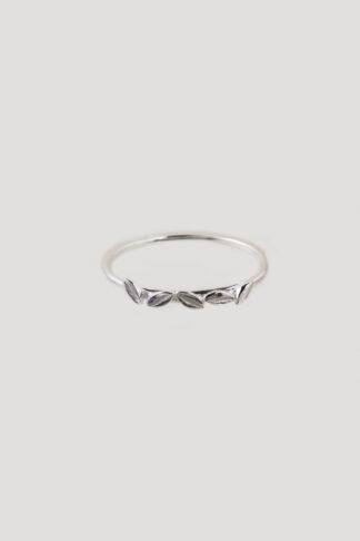 Fallen leaf ring silver