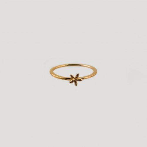 5 petal ring gold