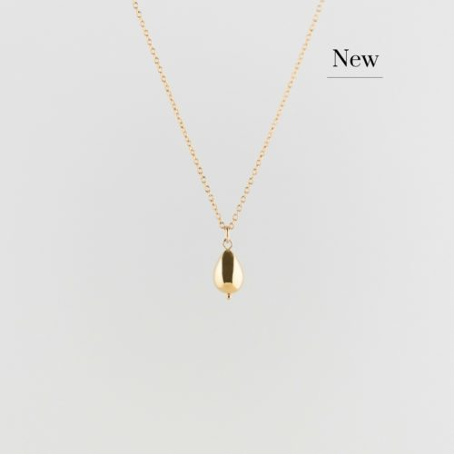 image of golden raindrop necklace new