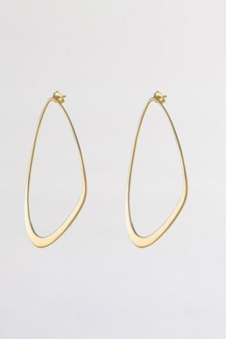 Gold sustainable ethical conscious bridal ebb tide earrings
