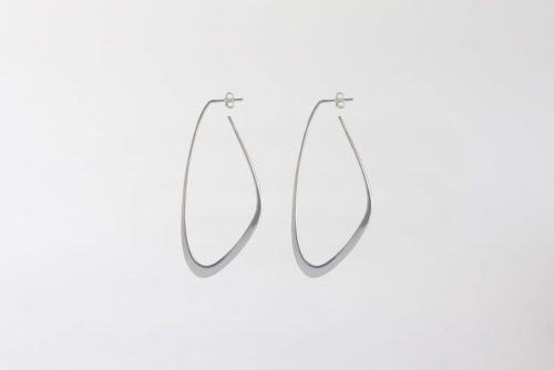 Silver sustainable ethical conscious bridal flow tide earrings
