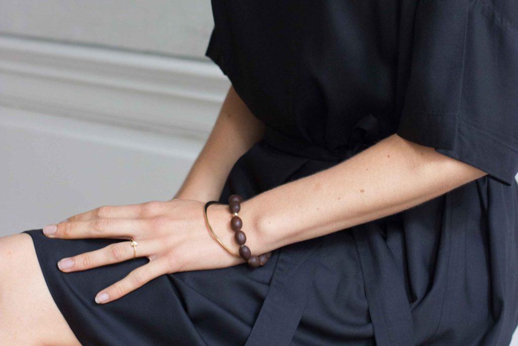 autumn promotion sustainable ethical bridal lotus seed bracelet