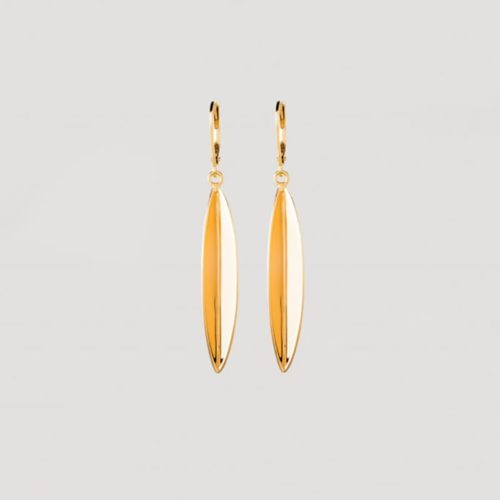 gold sustainable ethical conscious bridal olive leaf earrings