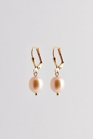 gold sustainable ethical conscious bridal pearl earrings
