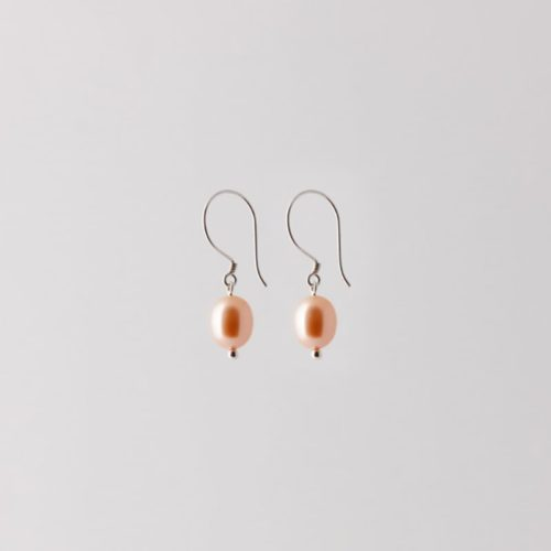 silver sustainable ethical conscious bridal pearl earrings
