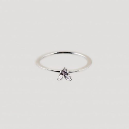 silver sustainable ethical conscious bridal lily ring