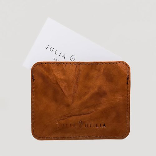 sustainable ethical conscious dutch made cappuccino design leather wallet