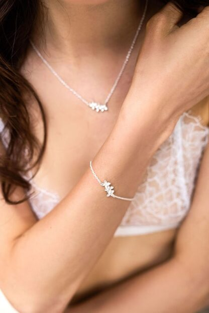 Floral mist jewellery recycled sterling silver