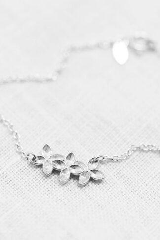 Floret bracelet recycled sterling silver