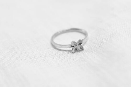Floret ring recycled sterling silver