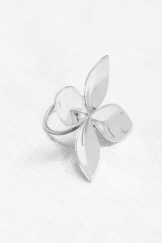 Grand floret ring recycled sterling silver